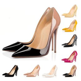 $enCountryForm.capitalKeyWord Australia - With box Dress shoes for women fashion red bottom heels with 8cm 10cm 12cm Triple pinks white leather designers pumps
