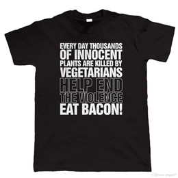 $enCountryForm.capitalKeyWord Australia - Eat Bacon, Mens Funny T Shirt, Novelty Christmas Gift for Dad Him Fathers Day Cotton Fashion Men T- Shirts Cartoon