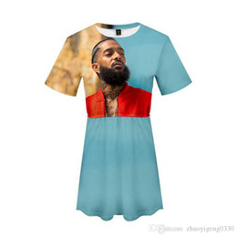 Nipsey Hussle 3D Print Femmes Sexy Summer Fashion Casual Harajuku à manches courtes robes vente Hot Girls mode Streetwear Plus Size