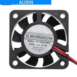 Brushless Fan 5v Australia - AURIN Mini 40x40x10mm PC Computer Cooling Fan Waterproof 5V 0.12A Low Noise Brushless DC Cooler Cooling Fan Heatsink 4cm