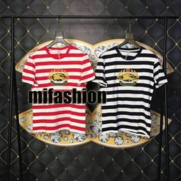 a5bcf3203af49 Casual luxury Clothing online shopping - 2019 Luxury England London Knight  Cavalier Stripe Tee High Quality