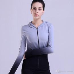 Reflective T Shirts Australia - Fitness Hooded Jackets Hat Zipper Women T Shirt Long Sleeve Sweatshirt Running Yoga Jacket Tops Female Shirt Sport Clothing #318445
