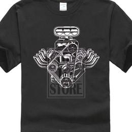 $enCountryForm.capitalKeyWord Australia - 2019 Cotton Short Sleeve Print Funny Novelty O Neck Tops Car Engine Motor T Shirt American Muscle Car Pistons Tee Shirt