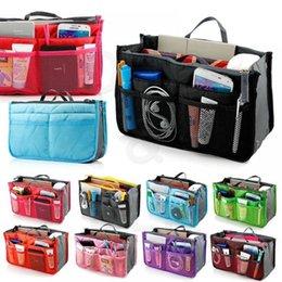 Ladies Handbag Organizer Insert Australia - Makeup Bag Case Organizer Insert Bag Women Nylon Travel Handbag Large liner Lady Make up Cosmetic Female Wash Toiletry Tote #29903