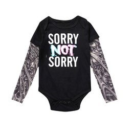 tattoo clothes Canada - Fall Baby Rompers Tattoo Sleeves Rock Baby Boy Romper Infant Girls Jumpsuit Long Sleeves Patchwork Cool Baby Clothes Boy Autumn