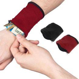 Wholesale Wrist Zipper Wallet Australia - Sport Armband Bag Absorb Sweat Coin Change Bag Wrist Wallet Key Card Pouch Portable Wallet LLA70