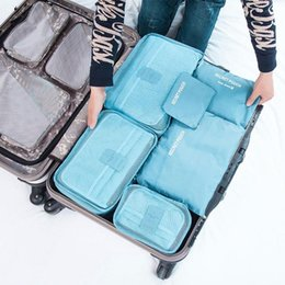 Wire dividers online shopping - 6Pcs set High Capacity Waterproof Travel Storage Bag Luggage Portable Clothes Tidy Organizer Pouch Suitcase Divider Container
