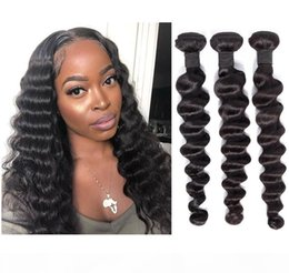 hair weave hairstyles NZ - A 8a Malaysian Hairstyle For Loose Deep Human Hair Weave Bundles 3pcs Lot Can Be Colored No Shedding And Tangle Free Shipping