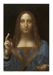 $enCountryForm.capitalKeyWord Australia - Leonardo Da Vinci Salvator Mundi High Quality Hand Painted  HD Print Art painting Home Wall Decor On Canvas Multi sizes  Frame Options p379