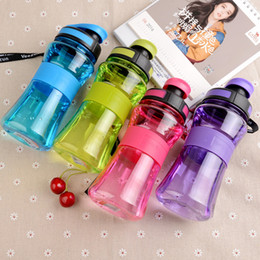 Lips Seals Australia - 550ml Leak-proof Seal Nozzle Sport Bicycle Plastic Water Bottles With Safe Material With Cover Lip Filter Bpa Free Space Shaker