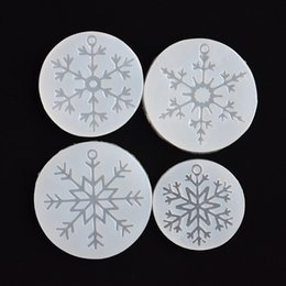 Silicone Handmade Tools Australia - epoxy molds SNASAN Silicone Mold for jewelry snowflake charms pendant Silicone Mould handmade tool epoxy resin molds