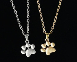 $enCountryForm.capitalKeyWord NZ - Cat Claw Pendant Necklace Gold Silver Plated Cute Cat Paw charm Animal Jewelry Best Gifts for woman man