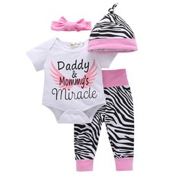 Suits Price NZ - 2019 4pcs Suits Baby Boys Girls Hot Selling Factory Price Lovely Cap Letters Kids Boys Short Sleeve Jumpsuits Baby Girls Pants Suits