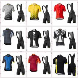 $enCountryForm.capitalKeyWord Australia - MAVIC team Cycling Short Sleeves jersey bib shorts sets MTB bike Wear Breathable Mens Summer Ropa Ciclismo Bicycle clothing F60616