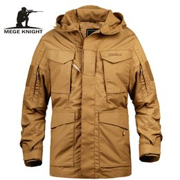 black trench hoodie men NZ - Mege Brand Men Tactical Clothing US Army M65 Military Field Jacket Trench Coats Hoodie Casaco Masculino Windbreaker Men AutumnLY191112