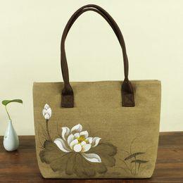 Packaging Ladies Handbag Australia - New Pattern Korean Characteristic Ma'am Bale Linen Hand Cotton Linen Art Handbag Single Shoulder Package Nation Wind Envelope