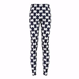 xxxl plus size yoga pants 2019 - 3429 Sexy Girl Black white puzzle jigsaw Printed Elastic Slim GYM Fitness Women Sport Leggings Yoga Pants Trousers Plus