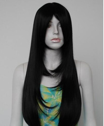 jet black curly wigs UK - FREE SHIPPING+ +Sexy Womens Girls Fashion Jet Black Long Style Curly Bang Party Wig for women wigs