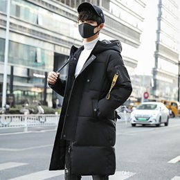 $enCountryForm.capitalKeyWord Australia - Korean Style Mens Long Parka Zipper Solid Warm Thick Oversize Coat Pockets Fur Hoodies Letter Winter Overcoat