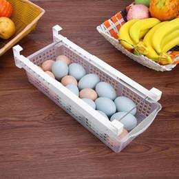 Toys Fridges Australia - New Fridge Mate Refrigerator Pull Out Bin Home Organizer Drawer Space Saving Organizer Egg Storage