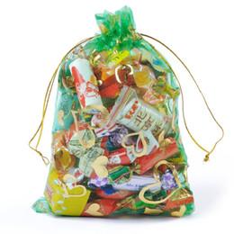 Tea Jewelry Australia - Heart Green Bronzing Organza Jewelry Packaging Gift Bags Wedding Gift Bags Large Tea Storage Sacks 7x9cm 100pcs lot Wholesale
