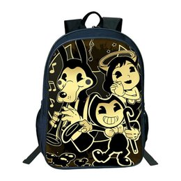 machine for boys NZ - Hot Cartoon Bendy And The Ink Machine Backpack For Students Bendy And Boris Kids BackpacTeens Boys Girls Children School Bags