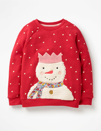 Kids sweatshirts for girls online shopping - 2019 Fashion Cute Long Sleeve Autumn Spring T shirt For kids baby girls cartoon Snowman Sweatshirt tshirt years clothes