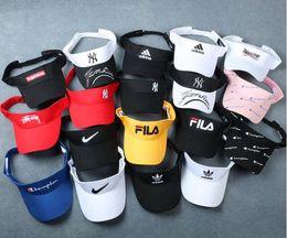 741b234ddc4 Net red empty cap female tide brand no top visor running sports tennis hat  male baseball cap ins sun hat X5
