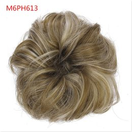 clipped hair Australia - S-noilite 1pcs Synthetic Hair Big Bun Chignon Two Plastic Comb Clips in chignon synthetic hairpiece chignon cheveux hair adsqweds