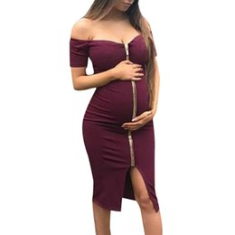 maternity wedding dresses for beach NZ - maternity gown for photo shoot pregnancy 2019 new fashion tube top maternity dress wedding dress for pregnant women