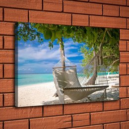 $enCountryForm.capitalKeyWord Australia - Hammock Swing Summer Beach,Home Decor HD Printed Modern Art Painting on Canvas (Unframed Framed)