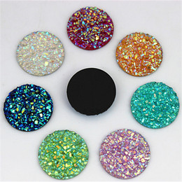 $enCountryForm.capitalKeyWord NZ - Micui 100pcs 18mm Crystal AB Flatback Round Rhinestone Cabochon Gems,Flat Back Resin Rhinestone For DIY Decoration ZZ647