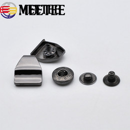 snap fasteners buttons NZ - Meetee Snap Fasteners Metal Snap Buttons for Coat Press Studs Decorative Botones DIY Leather Sewing Accessories KY646