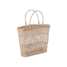 Handmade Patchwork Bags Australia - Big Capacity New Women Straw Bag Handbags Handmade Braided Lady Holiday Beach Bag Indian Thai Travel Woven Bohemian Tote