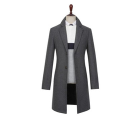 $enCountryForm.capitalKeyWord UK - Casual woolen coat men trench coats long sleeves Single-breasted thickening overcoat suits mens cashmere coat england black grey