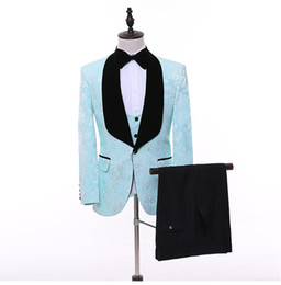 images tuxedos Australia - Real Image Wedding Tuxedos Black Shawl Lapel Lace Groom Men Suits Wedding Prom Dinner Best Man Blazer(Jacket+Bow+Pants) Tailor Made B299