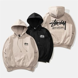 $enCountryForm.capitalKeyWord Australia - 2018 autumn and winter new 18SS clothing fashion men and women classic cruise printing plus velvet hooded sweater hoodie 000