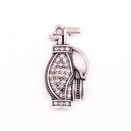 $enCountryForm.capitalKeyWord Australia - HL0093 Factory direct sales European religious jewelry sports style simple clavicle chain golf bag backpack pendant