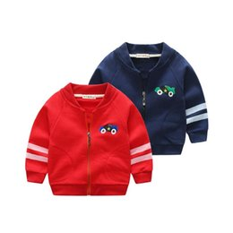 children cars cartoon NZ - Kids New Coat Baby boys Girls Cartoon car embroidery Clothing Autumn spring Jacket Children's Coat child Outerwear clothes