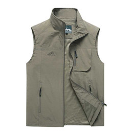 $enCountryForm.capitalKeyWord Australia - Fashion Lightweight Mesh Vest M-7XL Men Casual Polyester Vest Quick Dry Outdoor Waistcoat Style Man Clothing