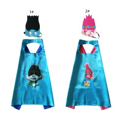 Free Christmas Gifts For Children Australia - 27in*27in Superhero Cape With Mask Christmas Kids Birthday Costumes Children Favors Halloween Gifts Double Layer Cape for Boy Girl