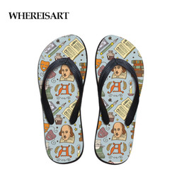 $enCountryForm.capitalKeyWord Australia - WHEREISART Retro Cartoon Character Print Mens Flip Flops New Style Rubber Soft Shoes Outdoor Beach Men's Slippers Man Footwear