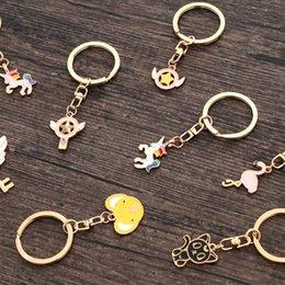 New cartoon portachiavi unicorno portachiavi Figurine colorate e portachiavi in metallo come anelli regalo Catena carina e adorabile