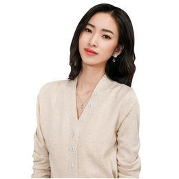 a1770034e3 Women s Long Sleeve Knitted Cashmere Cardigan Sweater Women Autumn Winter  Cable Knit Warm Cardigans Female Fashion Trendy Tops