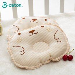 Ingrosso Il cuscino per neonato previene la sindrome della testa piatta | Cotone traspirante 25X18Cm modellato a forma di testa 3D e air mesh mesh