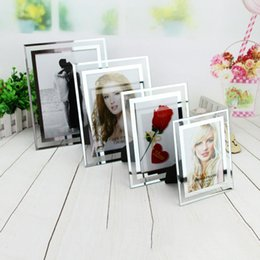 photo frames glass Australia - Creative Modern Glass Photo Frame Decorative Fashion Transparent Picture Frame Concise DIY Birthday Wedding Picture Display 2019