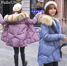 down padded ladies coats UK - Hello528shop Fashion Women's Warm Jacket Loose Down Cotton Coats Ladies Hooded Padded Long Fur Hood Winter
