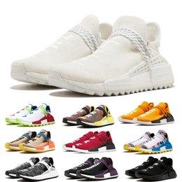 Опт Человеческая раса Би-би-си дизайнерская обувь Pharrell Williams Hu Solar Pack Oreo Multi Color NERD mens womens Golf кроссовки с коробкой GH684F