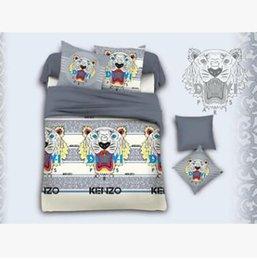 $enCountryForm.capitalKeyWord Australia - 2020 new Bedding Sets 4PCS Cotton Letter Bed Cover Suit Letter King Bedding Supplies