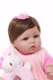 18 Inch Figure Australia - New 18 Inches 42cm Silicone Doll Reborn Baby Kids Toys Girls Gift bebe Dolls brinquedos dolls Xmas gifts for children kids toys